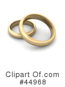 Royalty-Free (RF) wedding ring Clipart Illustration #44968