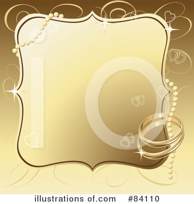 Royalty-Free (RF) Wedding Ring Clipart Illustration by Pushkin - Stock Sample #84110