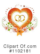 Royalty-Free (RF) Wedding Rings Clipart Illustration #1102181