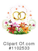 Royalty-Free (RF) Wedding Rings Clipart Illustration #1102533