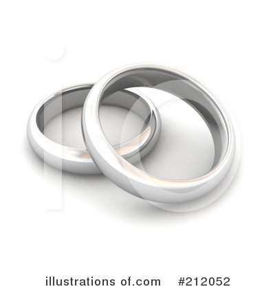 Royalty-Free (RF) Wedding Rings Clipart Illustration by Jiri Moucka - Stock Sample #212052