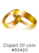 Royalty-Free (RF) Wedding Rings Clipart Illustration #60420