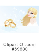 Royalty-Free (RF) Wedding Rings Clipart Illustration #69630