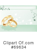 Royalty-Free (RF) Wedding Rings Clipart Illustration #69634