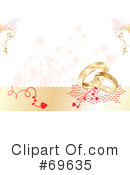 Royalty-Free (RF) Wedding Rings Clipart Illustration #69635