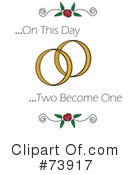 Royalty-Free (RF) Wedding Rings Clipart Illustration #73917