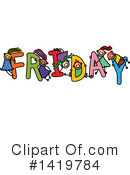 Royalty-Free (RF) Week Clipart Illustration #1419784