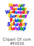 Weekday Clipart #50232