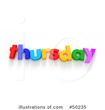 Thursday Clipart Clipart illustration by