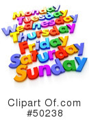 Weekday Clipart #50238