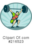 Weight Lifting Clipart #216523