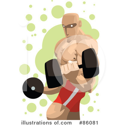 Royalty-Free (RF) Weight Lifting Clipart Illustration by mayawizard101 - Stock Sample #86081