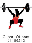 Royalty-Free (RF) Weightlifting Clipart Illustration #1186213
