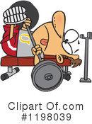 Royalty-Free (RF) Weightlifting Clipart Illustration #1198039