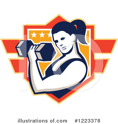Royalty-Free (RF) Weightlifting Clipart Illustration by patrimonio - Stock Sample #1223378