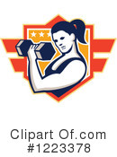 Weightlifting Clipart #1223378 by patrimonio