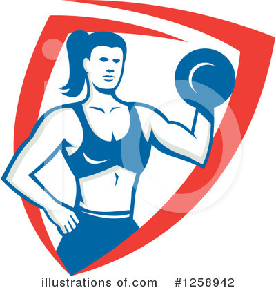 Royalty-Free (RF) Weightlifting Clipart Illustration by patrimonio - Stock Sample #1258942