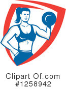 Royalty-Free (RF) Weightlifting Clipart Illustration #1258942