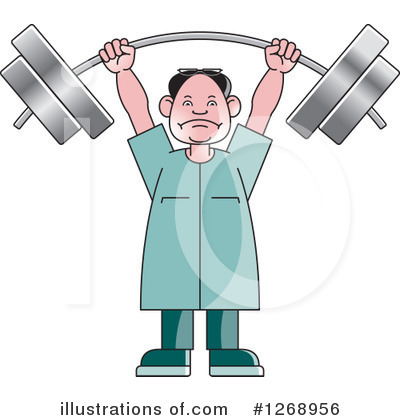 Weightlifting Clipart #1268956 by Lal Perera