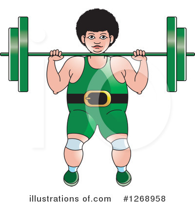 Weightlifting Clipart #1268958 by Lal Perera