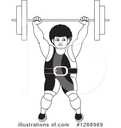 Weightlifting Clipart #1268969 by Lal Perera