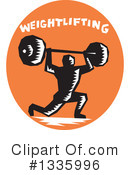Weightlifting Clipart #1335996 by patrimonio