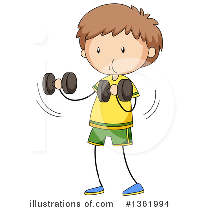 Weight Lifting Clipart #1361994 by Graphics RF