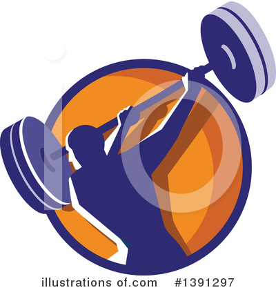 Royalty-Free (RF) Weightlifting Clipart Illustration by patrimonio - Stock Sample #1391297