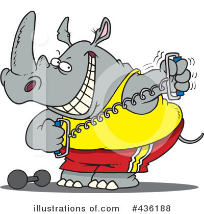 Rhino Clipart #436188 by toonaday