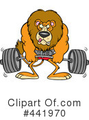 Royalty-Free (RF) Weightlifting Clipart Illustration #441970