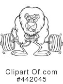 Weightlifting Clipart #442045 by toonaday