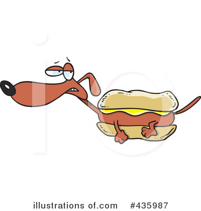 Hot Dog Clipart #435987 by toonaday