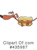 Royalty-Free (RF) Weiner Dog Clipart Illustration #435987