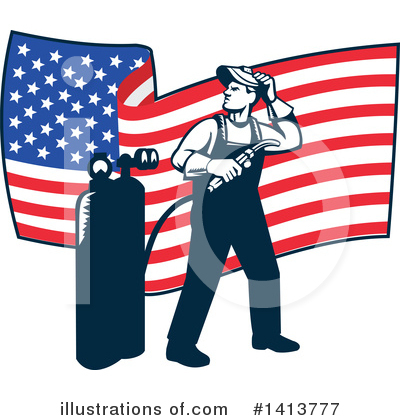 Welder Clipart #1413777 by patrimonio