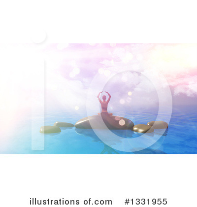 Yoga Clipart #1331955 by KJ Pargeter