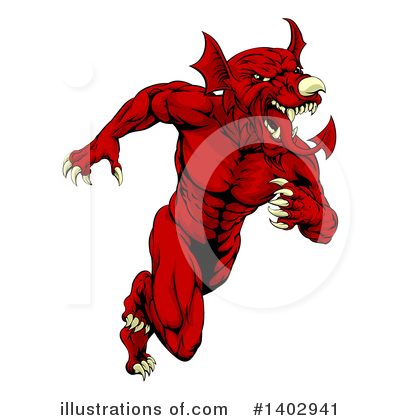 Dragon Clipart #1402941 by AtStockIllustration