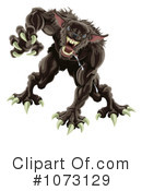 Royalty-Free (RF) Werewolf Clipart Illustration #1073129