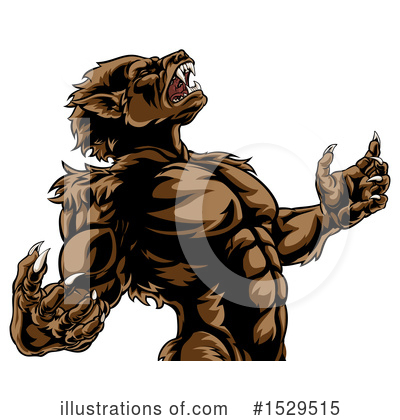 Werewolf Clipart #1529515 by AtStockIllustration