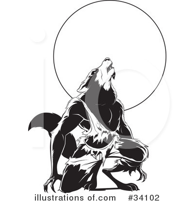 Werewolf Clipart #34102 - Illustration by Lawrence Christmas ...