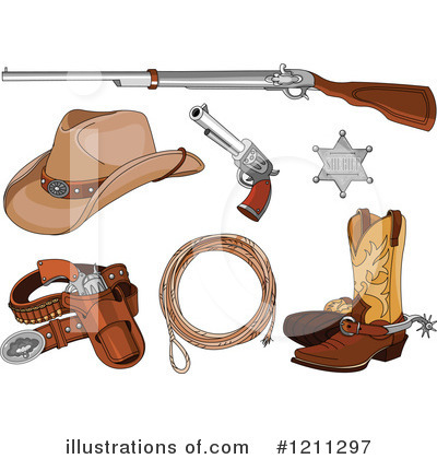 Cowboy Boots Clipart #1211297 by Pushkin