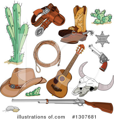 Cowboy Boots Clipart #1307681 by Pushkin