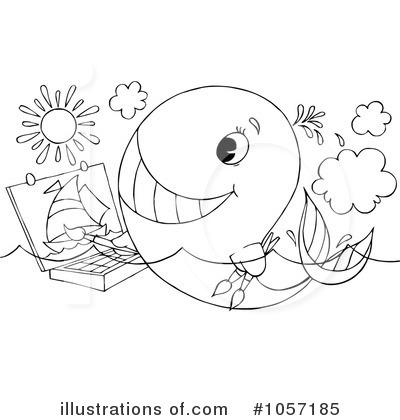 Royalty-Free (RF) Whale Clipart Illustration by Alex Bannykh - Stock Sample #1057185