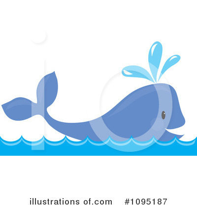 Royalty-Free (RF) Whale Clipart Illustration by Maria Bell - Stock Sample #1095187