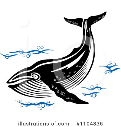 Whale Clipart #1104336 by Vector Tradition SM