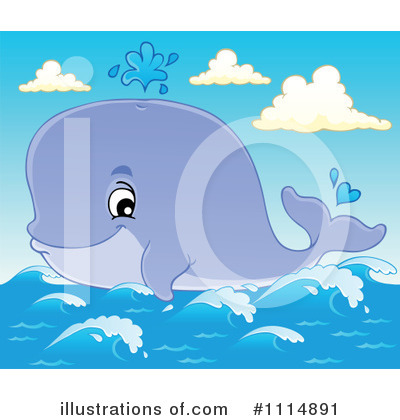 Whale Clipart #1114891 by visekart