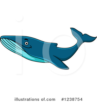 Whale Clipart #1238754 by Vector Tradition SM