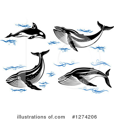 Royalty-Free (RF) Whale Clipart Illustration by Vector Tradition SM - Stock Sample #1274206