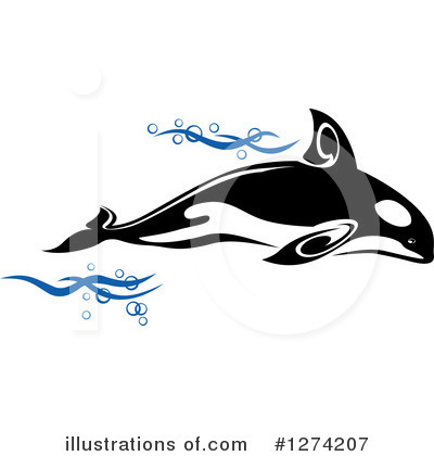Orca Clipart #1274207 by Vector Tradition SM
