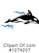 Whale Clipart #1274207 by Vector Tradition SM