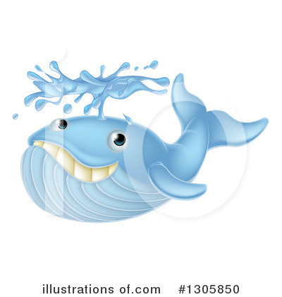 Whale Clipart #1305850 by AtStockIllustration